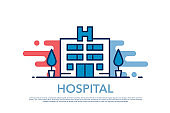HOSPITAL ICON AND VECTOR