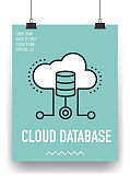 Cloud Database Line Icon