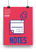 Notes Line Icon