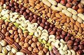 Varieties of nuts.