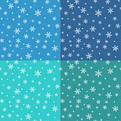 Seamless pattern set with snowflake design