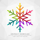 Abstract and colorful snowflake