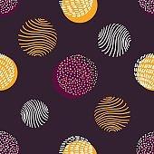 Hand drawn stylish modern dark seamless abstract pattern, scandinavian design style.