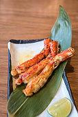 grilled taraba king crab