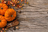 Fall Pumpking Spice Holiday Background.
