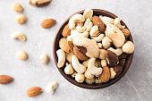 walnut meats. assortment of nuts. cashews, almonds, hazelnuts