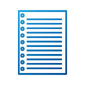 lined paper note page blank school