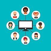 social media community icons
