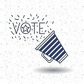 Isolated megaphone of vote concept