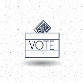 Isolated box of vote concept