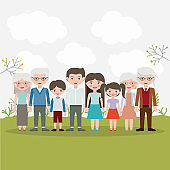 Mother father daughter son and grandparents designs