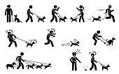 Man Walking Dog.