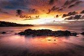 Sunrise at Langland Bay