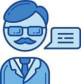 Professor line icon