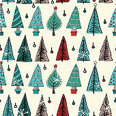 Vintage Christmas Seamless Repeating Pattern