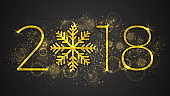 2018 Year Vector Illustration