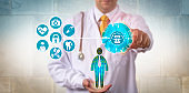 Doctor Securing Access To Health Record Via Cloud