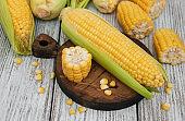 Fresh corn on the cob