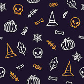 Halloween background with glitter elements.