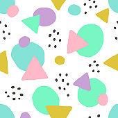 Cute geometric background. Seamless pattern