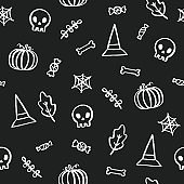 Black and white Halloween background.