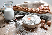 Dishes made with flour and eggs.
