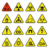 Prohibition signs industry production vector warning danger symbol forbidden safety information protection no allowed caution information