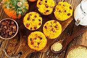 Pumpkin cake with  millet
