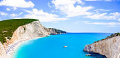 Most beautiful beaches of Greece series - Porto Katsiki in Lefkada. Ionian islands