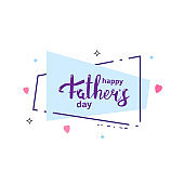 Happy Father's Day card. Vector Illustration.