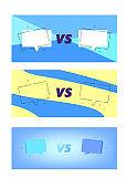 Set of Versus screen templates. Vector illustration.