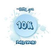 Vector 10k followers thank you social media template.