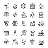 Energy Icons - Vector Line Series