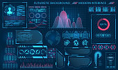 Futuristic Interface HUD Design, Infographic Elements