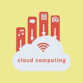 Cloud Computing Concept Design-illustration
