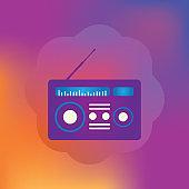 Radio advertising icon - Illustration