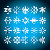 Hand drawn snowflakes collection - Illustration
