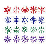 Snowflakes collection - Illustration