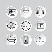 Database icon set - Illustration
