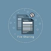 File sharing icon - Illustration