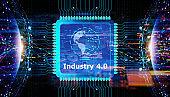 Industry 4.0 digital concept