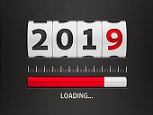 Loading New year 2019 counter