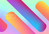 Retro holographic background, cover. Backdrop colorful gradient.