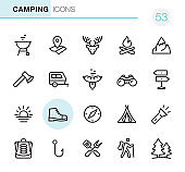 Camping - Pixel Perfect icons