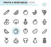 Fruits & Vegetables - Pixel Perfect icons