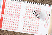 Lottery ticket with two dices