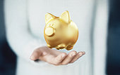 Golden piggy bank