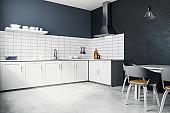 Contemporary white kitchen interior