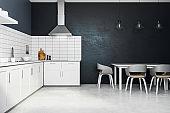 New white kitchen interior