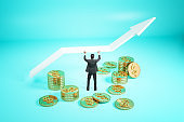 Financial growth and success concept